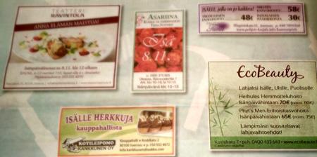 Kauneushoitolan markkinointi lehdessä