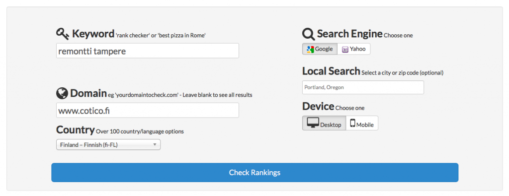 Keyword Rank Checker